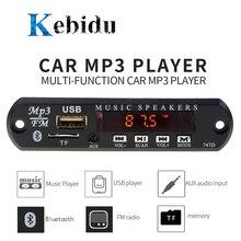 KEBIDU 범용 MP3 WMA 디코더 보드 무선 블루투스 5V 12V USB SD(TF) AUX FM 라디오 오디오 모듈 자동차 diy에 대 한 원격