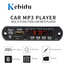 KEBIDU Universal MP3 WMA Decoder Board Wireless Bluetooth 5V 12V USB SD(TF) AUX FM Radio Audio Module With remote For Car DIY