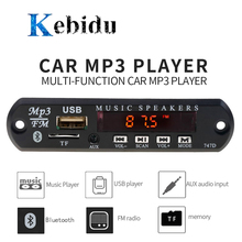 Kebidu Đa Năng MP3 WMA Bluetooth Không Dây 5V 12V USB SD(TF) AUX FM Radio Mô Đun Âm Thanh Từ Xa Cho Xe Hơi DIY