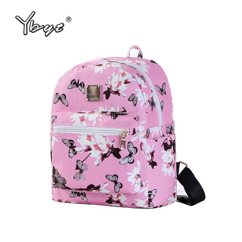YBYT brand 2017 new simple casual floral printing canvas women rucksack ladies travel bag large capacity student school backpack casual canvas women backpack simple cover large capacity travelling bag khaki blue rose red and green colors big and small