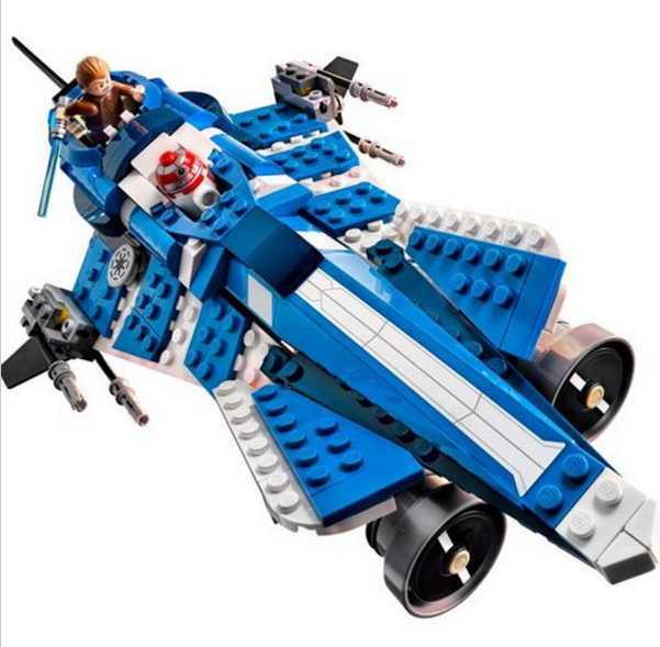 mylb New 369pcs  Star Wars Building Blocks Anakins Custom Jedi Starfighter Toys  Compatible With diy