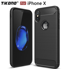 Soft Silicone TPU Carbon Fiber Case for iPhone X Cover Coque Luxury Shockproof Armor Full Cover Protection for iPhone X Case