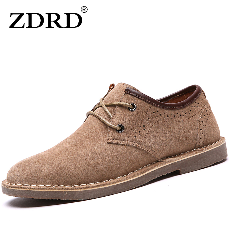 ZDRD  New Arrival Men casual  shoes  Comfortable Flats Shoes Fashion Breathable Leather anti slip Lace-Up oxford Fur Moccasins 2017 new women shoes genuine leather casual shoes flats breathable lace up soft fashion brand shoes comfortable round toe white