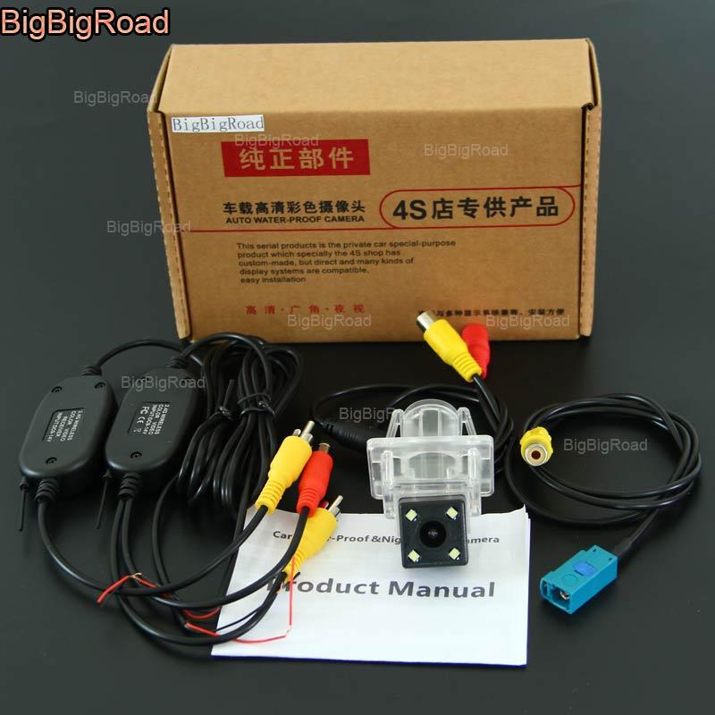 BigBigRoad pour Mercedes Benz série E W212 W213 W207 C207/C seires W204/A série W176 caméra de recul sans fil de vue arrière de voiture