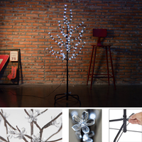 1.5M Height Christmas Tree LED Cherry Blossom transparent plastic White Lighting Outdoor Wedding Garden Holiday Light Xmas Decor