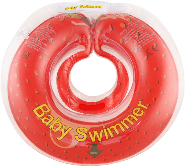 Children's neck swimming ring Baby Swimmer BS12R inflatable children swimming ring seat pool floating boat