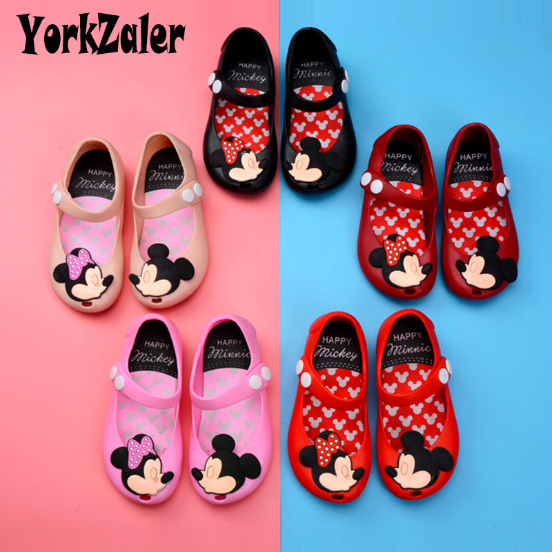 Yorkzaler Summer Kids Sandals For Girls Boys Cartoon Mouse Rubber Children Sandals Enfant Baby Casual Shoes Footwear Size 24-32