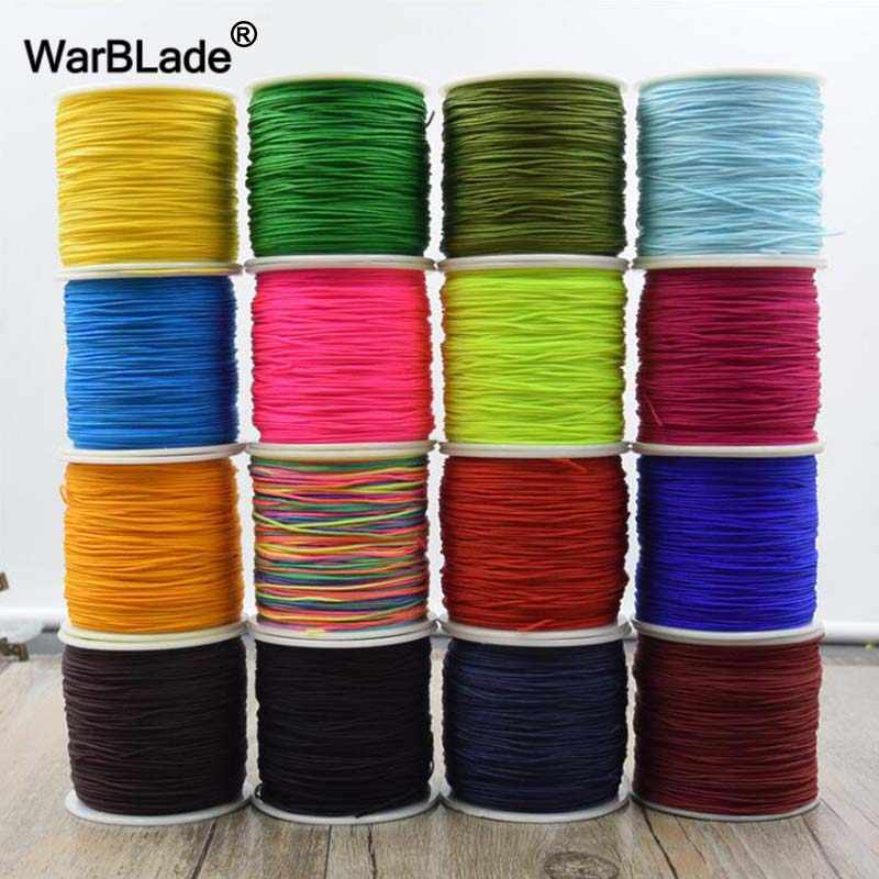 Jewelry Making Accessories 100M 0.8mm 1mm 1.5mm 2mm Cotton Cord Nylon Cord Thread String DIY Tassels Beading Braided Bracelet