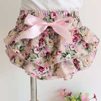 Cute girls underwear panties bow rose floral newborn photography props kids briefs underpants toddler cotton panties baby props