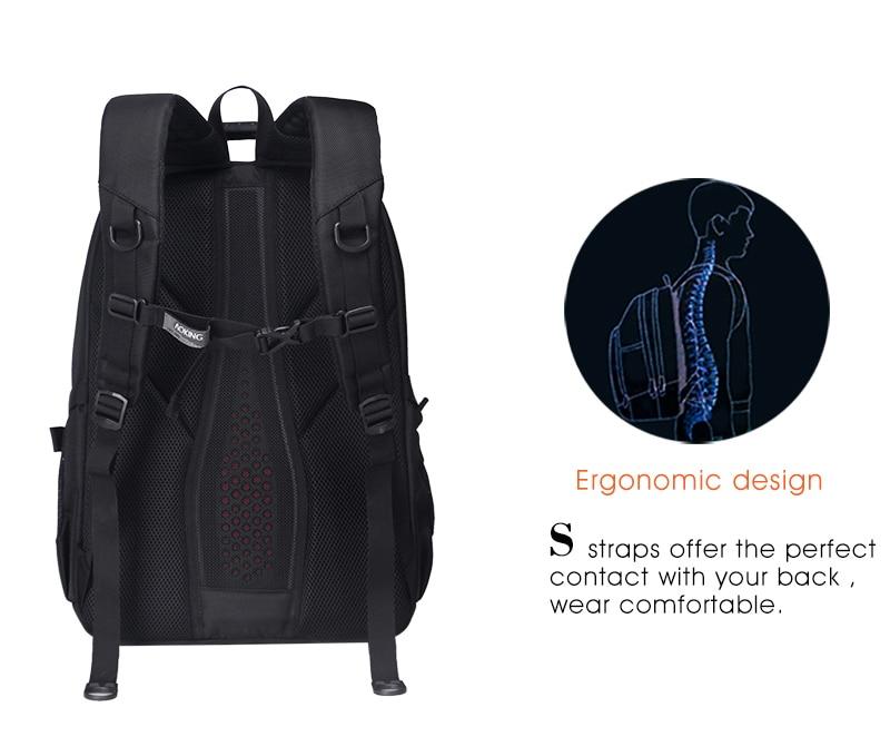 Aoking Original Brand New Patent Design Massage Air Cushion1 Men's Laptop Backpack Men Large Capacity Nylon Comfort Backpacks 10