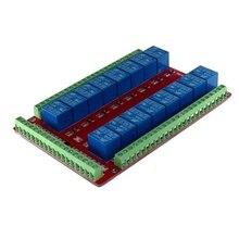 16 каналов 16CH Релейный Щит Модуль RM16LS 5 в 12 В 24 В Raspberry Pi pcduмакетная плата DIY Kit RC набор электронных игрушек