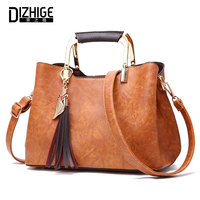 DIZHIGE Women Shoulder Bag Female High Quality PU Leather Tassel Handbag Ladies Crossbody Messenger Bags Fashion