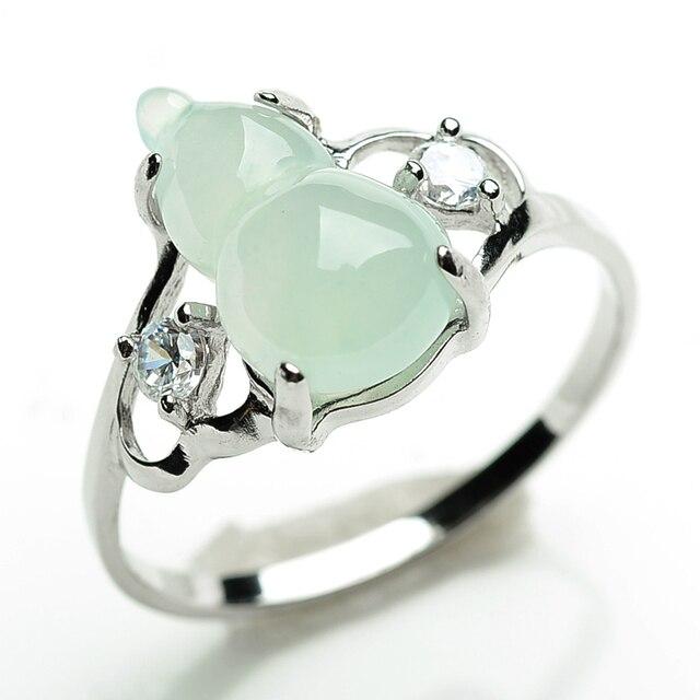 Tipos de hielo de jade calabaza incrustación 925 placas de platino ...