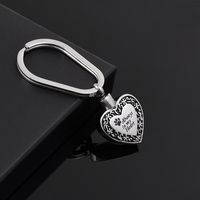 IJK2054 New 316L Stainless Steel Cremation Keychain Wholesale Engraving Always In My Heart Keepsake Pendant For