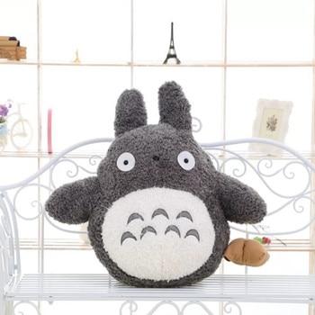 Free Shipping 35cm Soft Plush Toy Doll Cute Totoro Hayao Miyazaki Large Pillow Cushions Cartoon Doll Birthday Gift kobayashi san chi no maid dragon plush toy anime kannakamui plush doll cosplay 52cm soft pillow high quality free shipping