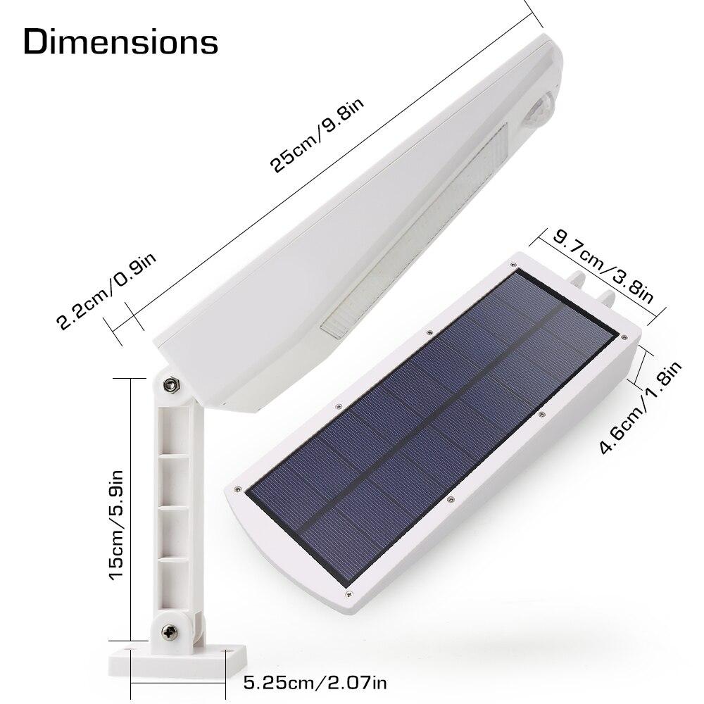 48 led solar luz ao ar livre