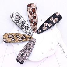 leopard hair clips for women jewelry wedding accessories korean pins acrylic barettes accessoire femme