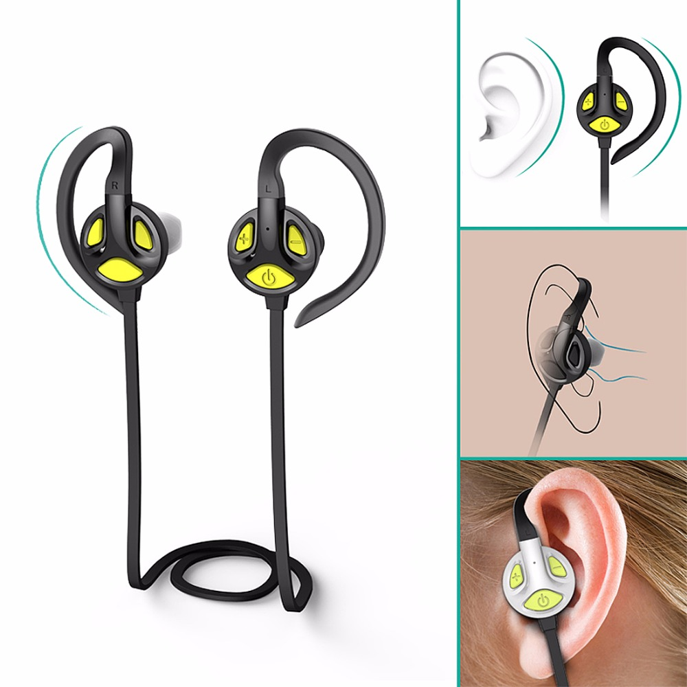 Bluetooth Earphone Wireless Sports Headphones Ear Hook Headset Running Music Stereo Earbuds Handsfree with Mic for Smartphones wireless bluetooth headset running earphone ear hook with mic earbuds for apple meizu xiaomi mobile pc lg sports headphones