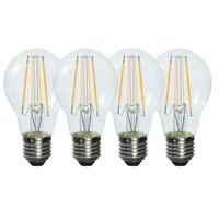 Pack of 4 Retro Style 6W E27 Warm White Clear Glass LED Light Filament Bulb (580LM 2800K ,Replacing 50W Incandescent Lamp)
