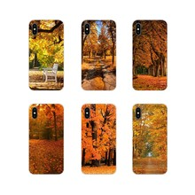 Cell Phone Skin Case For Oneplus 3T 5T 6T Nokia 2 3 5 6 8 9 230 3310 2.1 3.1 5.1 7 Plus 2017 2018 Autumn Rusty Leaves Park Alley(China)