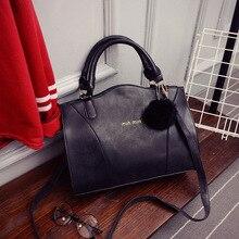 ฤดูหนาวใหม่แฟชั่นเกาหลีr etro m atteหนังกระเป๋าถือกระเป๋าลูกผมตกแต่งกระเป๋าสะพายกระเป๋าถือ