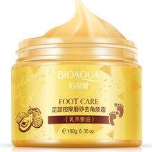 2Pcs BIOAQUA Foot cream Shea Butter Moisturizing Whitening cream Foot Care Exfoliating Anti-dry scrub ageless skin care