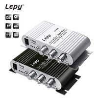 LP-808 Lepy MINI amplificador de potencia para coche, reproductor Digital Hi-Fi estéreo CD, MP3, MP4, PC, altavoz para motocicleta, casa, Supergraves, amplificador de Audio 2 canales