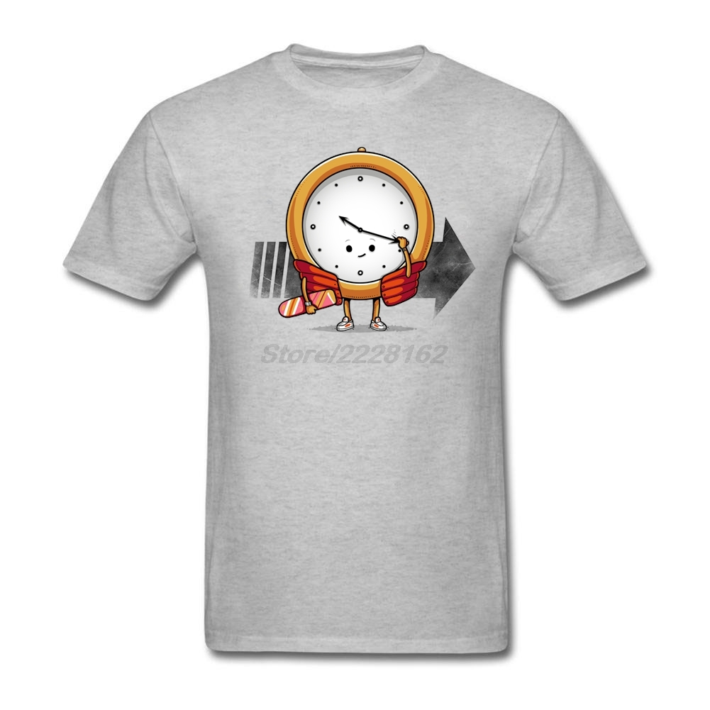 Adult Man Loose Casual T-Shirt Online Shirt with Time traveler Mens Trendy Apparel Customize T-shirts
