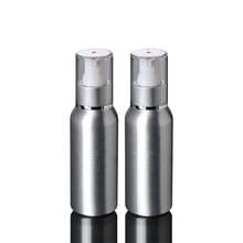 1pcs Vacuum Storage Bottle 50ML aluminum bottle cosmetic emulsion press packaging Aluminum BQ004