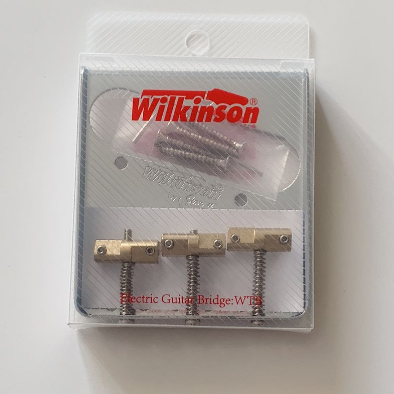 Image 3 - Wilkinson WTB Chrome silve Vintage Style Fixed Tele Electric Guitar Bridge With Brass Saddles for TL Guitar bridge-in Guitar Parts & Accessories from Sports & Entertainment
