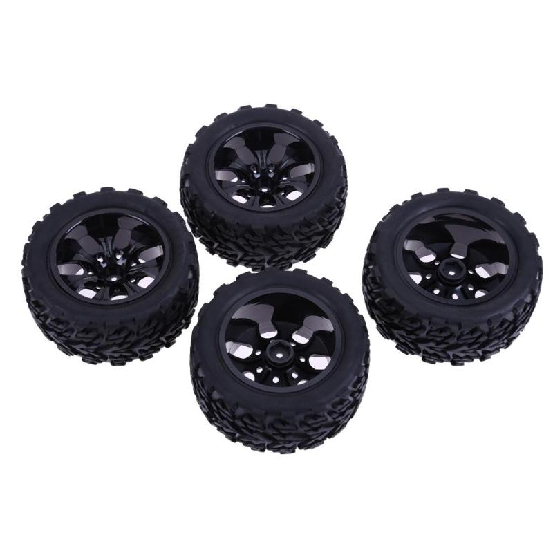 4pcs Tires RC 1/10 Universal Car Racing Wheel Rim Tires Off-road Bigfoot Tire for HSP Redcat Traxxas Tamiya HPI Car Bike Trial 4pcs aluminum alloy 52 26mm tire hub wheel rim for 1 10 rc on road run flat car hsp hpi traxxas tamiya kyosho 1 10 spare parts page 6
