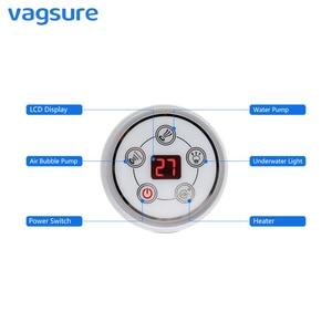 Image 2 - Vagsure 1set AC 110V/220V Digital Control Panel With LCD Screen Spa Combo Water Air Massage Bathtub whirlpool Controller Kits