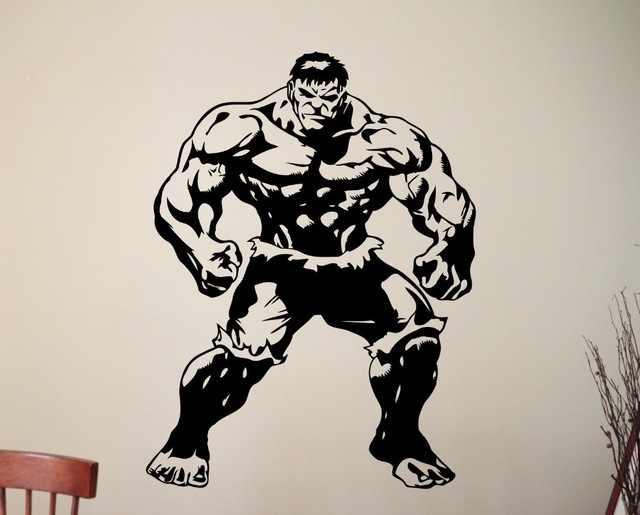 Халк Плакат Наклейка супергерой адвенджеры Фильм Виниловые стикеры комиксы дома мальчик комната интерьера детская художественная Фреска