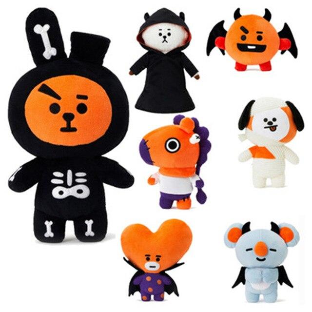 Bangtan boys um BTS Halloween BT21 gleiche Q version cartoon Puppe TATA COOKY CHIMMY plüsch spielzeug