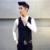 Hombres chaleco traje A Cuadros de impresión Slim fit partido Formal del vestido de boda negocio chaleco ocasional más tamaño 3XL 4XL 2017 otoño TZ22