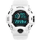 Digital Watch Men LED Display SMAEL Male Watch Sport Watches for Men Waterproof relogio masculino1385C White Digital Watches Men