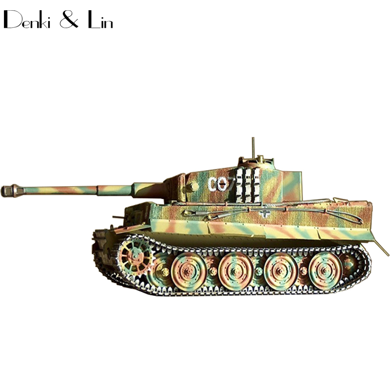 1:25 3D Germany Tiger Tank High definition Paper Model Assemble Hand Work Puzzle Game DIY Kids Toy Denki & Lin