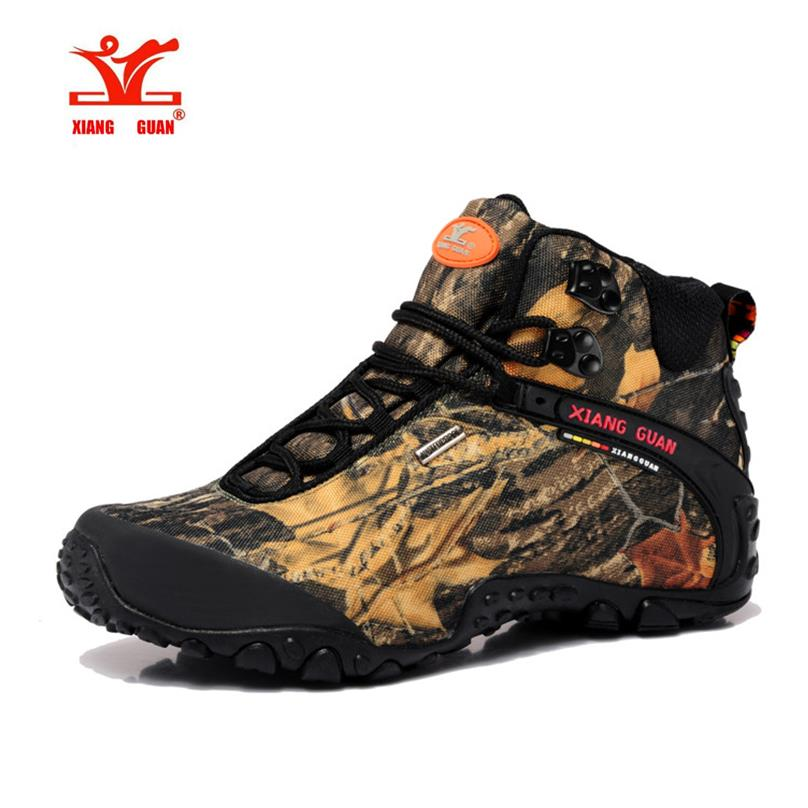 ФОТО High Quality Camouflage Unisex Sports Outdoor Hiking Trekking Boots Shoes For Men And Women Sport Climbing Mountain Boots Shoes