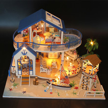 DIY Dollhouse with Doll House Furniture Toys for Children Cute Families House Legend of Blue Sea Dollhouse Family girl gift dust proof cover case for legend of the blue sea 13844 diy dollhouse 22 21 1cm acrylic