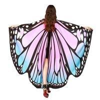 スカーフショールラップギフトバタフライウイングスカーフノベルティ色スカーフ女性卸売蝶ショール飾ら蝶マント