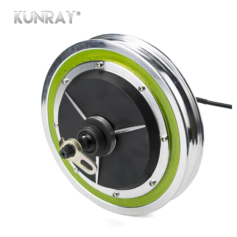 12Wheel Electric Brushless Non-Gear Hub Motor For 12inch Raear Front Wheel Engine Electric Scooter Bicycle Ebike E-car Kit Part electric wheel brushless hub motor 9
