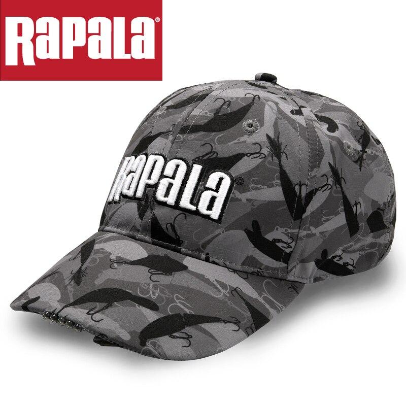 20c14731a93 Dropwow Rapala Brand Outdoor Night Lighting Fishing Cap LED Light ...