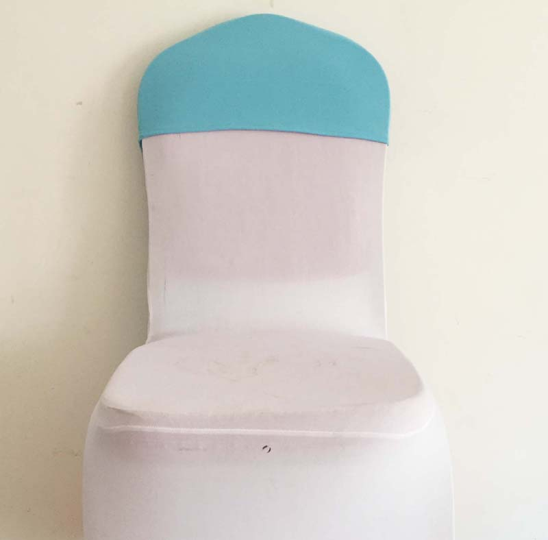 100pcs blue spandex chair cover hoods lycra stretch chair caps