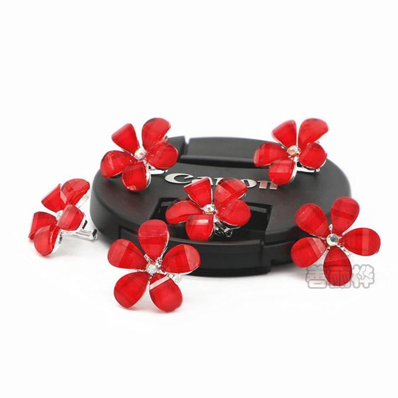 Новый милый шпилька 6 шт. Овальный с сердцем персикового цвета цветок капли воды Буле розового и фиолетового цветов красные шпильки для женщ...