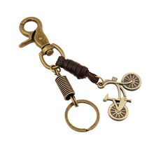 hot sale Bicycle Pattern Leather Keychain Good Quality Trendy Fathers Day Sweety Love Gift New Arrival Bling Jewelry