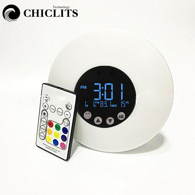 Morning Wake Up Alarm Clock Usb Touch Sensor Led Light