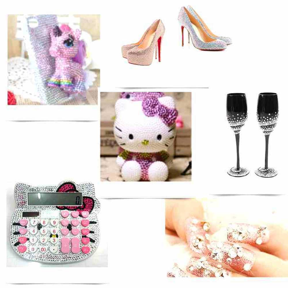 Negro púrpura AB resina strass 1000 Uds 2-5mm redondo Flatback no Hotfix diamantes apliques artesanía tela de novia vestidos