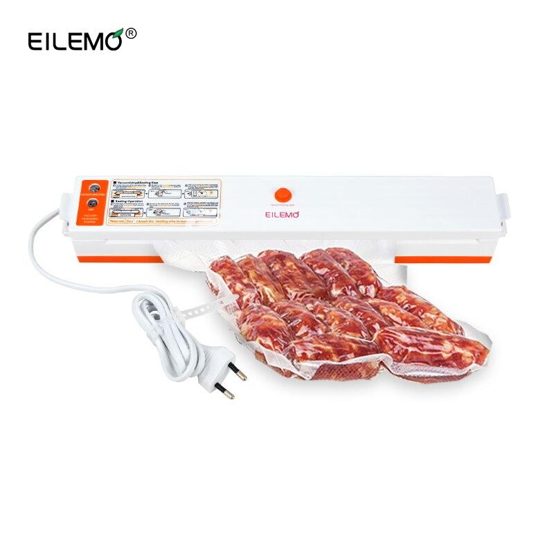 EILEMO Folienschweißgerät Verpackung Verschließmaschine Packer Küche Lebensmittel Sealer Verpackung Maschine Gehören 15 stücke Vakuumbeutel
