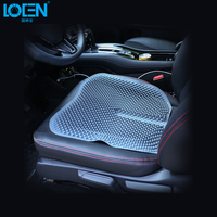 Car Seat Cushion Silica Gel Cover Pad Nonslip 43*42CM For Universal Car Front Seats Home/Office Chair Blue Red Black Orange Gray