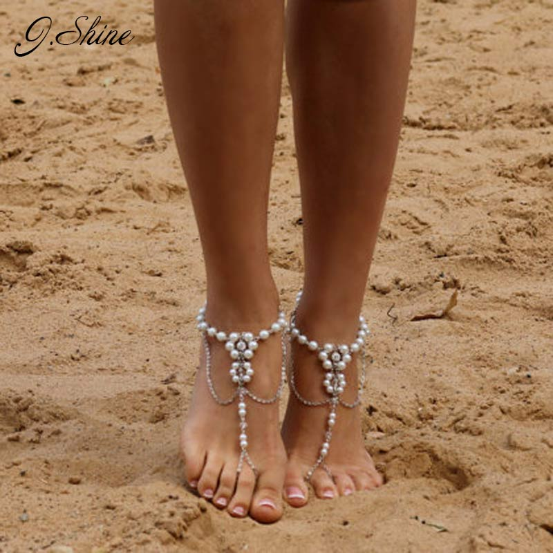 stone studded tikkas shopping anklet payal pin white online
